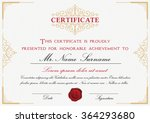 certificate template design... | Shutterstock .eps vector #364293680