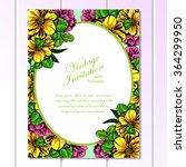 vintage delicate invitation... | Shutterstock . vector #364299950