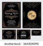 elegant wedding invitation... | Shutterstock .eps vector #364304090