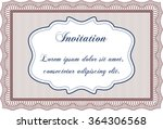 formal invitation template.... | Shutterstock .eps vector #364306568