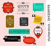 retro quotation mark speech...   Shutterstock .eps vector #364308998