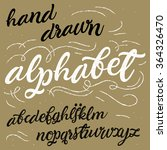 vector alphabet. hand drawn... | Shutterstock .eps vector #364326470