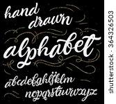 vector alphabet. hand drawn... | Shutterstock .eps vector #364326503