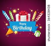 birthday card  flyer or placard.... | Shutterstock .eps vector #364328438