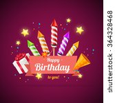 birthday card  flyer or placard ... | Shutterstock .eps vector #364328468