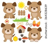 Stock vector puppy dog vector illustration 364328639