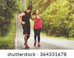 man hand to help women a highly ... | Shutterstock . vector #364331678