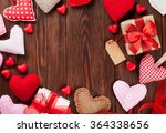 Valentines Day Hearts And Gift...