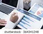businessman analyzing... | Shutterstock . vector #364341248