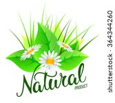 original hand lettering natural ... | Shutterstock .eps vector #364344260