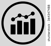 bar chart analytics vector icon.... | Shutterstock .eps vector #364347488