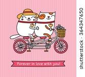 valentine's day card. cartoon... | Shutterstock .eps vector #364347650