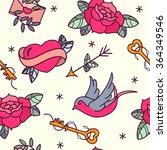 old school tattoo vector... | Shutterstock .eps vector #364349546