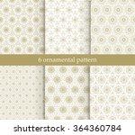 set of nine golden ornamental... | Shutterstock .eps vector #364360784