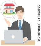 businessman estate | Shutterstock .eps vector #364360910