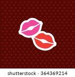 kisses. valentine s day icon.... | Shutterstock .eps vector #364369214