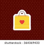 paper shopping bag with heart....   Shutterstock .eps vector #364369433