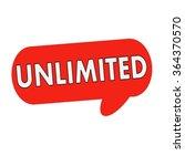 unlimited wording on speech... | Shutterstock . vector #364370570
