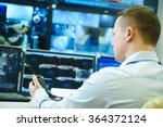 video monitoring surveillance... | Shutterstock . vector #364372124