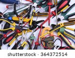 tools to use in electrical... | Shutterstock . vector #364372514