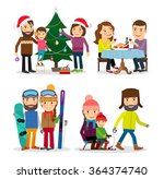 winter sports and winter holiday | Shutterstock . vector #364374740