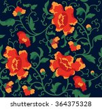 seamless floral pattern peonies.... | Shutterstock .eps vector #364375328