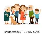 big family portrait | Shutterstock . vector #364375646