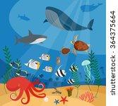 ocean underwater background   Shutterstock . vector #364375664