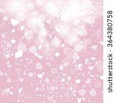 shining heart on a pale bokeh... | Shutterstock . vector #364380758