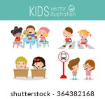kids activity in the... | Shutterstock .eps vector #364382168