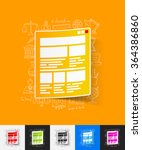 interface paper sticker with...