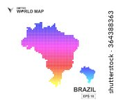 map of brazil dotted vector... | Shutterstock .eps vector #364388363