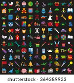 illustration colored icons on a ... | Shutterstock .eps vector #364389923