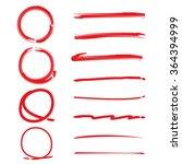 collection of vector circles... | Shutterstock .eps vector #364394999