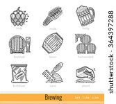 set of wine labels and elements....