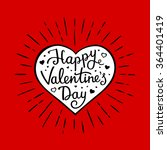 happy valentine's day. greeting ... | Shutterstock .eps vector #364401419