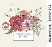 vintage botanical greeting card ... | Shutterstock .eps vector #364404803
