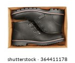 men's black leather shoes in... | Shutterstock . vector #364411178