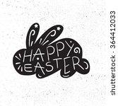 vintage happy easter lettering... | Shutterstock .eps vector #364412033