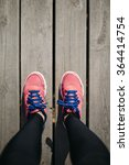 feet on trail running sport... | Shutterstock . vector #364414754
