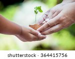 child with parents hand holding ... | Shutterstock . vector #364415756