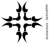 tribal tattoo vector design...   Shutterstock .eps vector #364418990