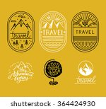 Vector Set Of Linear Badges In...