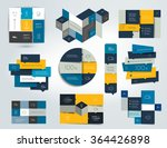 set of blue infographics... | Shutterstock .eps vector #364426898