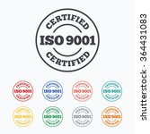 iso 9001 certified sign icon.... | Shutterstock .eps vector #364431083