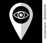 eye   white vector icon   map...