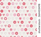 seamless hearts pattern | Shutterstock .eps vector #364433498