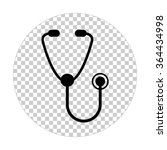 stethoscope    black vector icon | Shutterstock .eps vector #364434998
