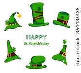 leprechaun green hat silhouette.... | Shutterstock .eps vector #364436438