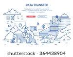 vector illustration in modern... | Shutterstock .eps vector #364438904
